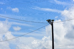 Football field net royalty free stock images