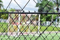 Football field net Royalty Free Stock Image