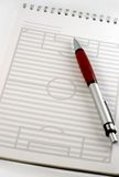 football field notepad  Royalty Free Stock Photo