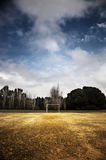Football field in a park Royalty Free Stock Image