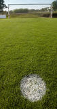 Football field with penalty point. Royalty Free Stock Photos