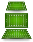 Football field with perspective Royalty Free Stock Images