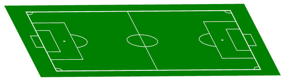 Football field in perspective Stock Image