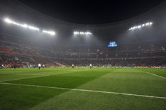 Football field photo was taken during the match between shakhtar donetsk ukraine bayer leverkusen germany uefa champions league Stock Photo