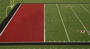 Football Field Red End Zone