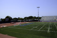 Football field at Santa Monica College Royalty Free Stock Images
