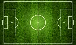 Football field scheme vector illustration