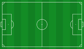 Football field scheme Royalty Free Stock Image