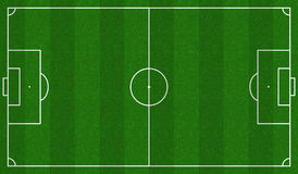 Football field scheme. Green Football field scheme. Standard soccer markup, Vector illustration Stock Photography