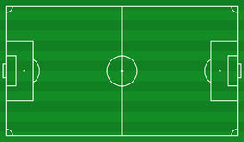 Football field scheme Royalty Free Stock Photography