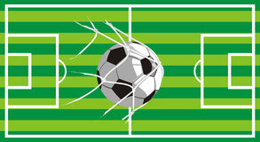 Football field - shot on target. Turf on the football field - shot on goal Royalty Free Stock Images