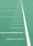 Football Field Sideline. Sideline of a Lined Football Field royalty free stock photography