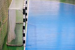Football field, Futsal ball field in the gym indoor, Soccer sport field. Football field Small, Futsal ball field in the gym indoor, Soccer sport field Royalty Free Stock Photography