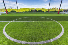Football field Small, Futsal ball field in the gym indoor Stock Image