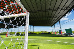 Football field Small, Futsal ball field in the gym indoor Royalty Free Stock Photo