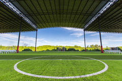 Football field Small, Futsal ball field in the gym indoor Stock Photography