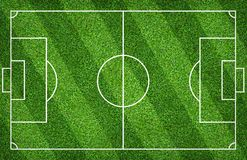 Football field or soccer field for background. Green lawn court for create game. Football field or soccer field for background. Green lawn court for create sport royalty free stock photos