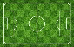 Football field or soccer field for background. Green lawn court for create game. Football field or soccer field for background. Green lawn court for create sport stock images