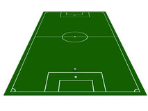 Football field with soccer ball. On white background. 3D image Stock Images