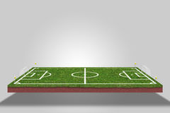 Football field. soccer. 3d view Royalty Free Stock Photo