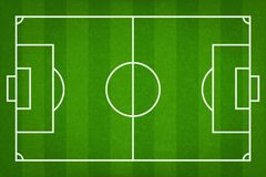 Football field or soccer field background. Vector green court for soccer game. Royalty Free Illustration