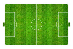 Football field or soccer field pattern and texture. Isolated on Royalty Free Stock Image
