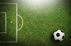 Football field soccer stadium Stock Photos
