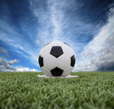 Football field soccer stadium Royalty Free Stock Images