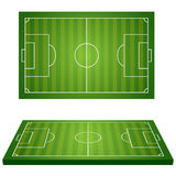 Football Field. Sport icons. Royalty Free Stock Photography