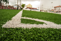 Football field. The sport to be friendly and make to fun and make good relation Royalty Free Stock Images
