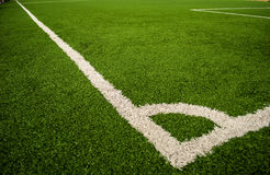 Football field. The sport to be friendly and make to fun and make good relation Stock Image