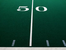 Football Field for Sports and Achievement Royalty Free Stock Images