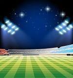 Football field and stadium Royalty Free Stock Image