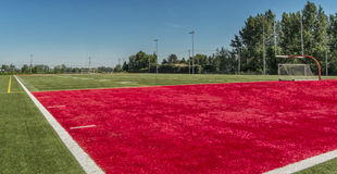Football field Royalty Free Stock Photos