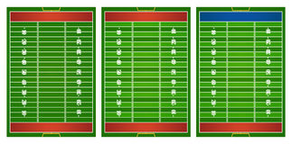 Football field in three design. Illustration Royalty Free Stock Photo