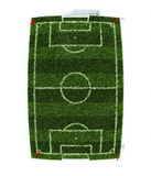 Football field top view Stock Images