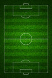 Football field top view with standard markings Stock Photos