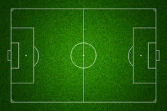 Football field top view with standard markings Royalty Free Stock Photography