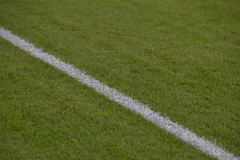 Football field - touch line Stock Images