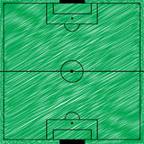 Football field vector illustration. (vector eps 10 Royalty Free Stock Photo