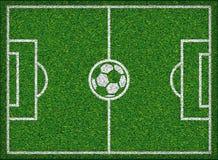 Football field. Vector illustration. Football field Soccer concept Vector illustration Stock Photos