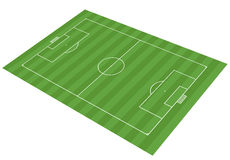 Football field - vector illustration. Three dimensional vector illustration of an classical soccer field Royalty Free Stock Image