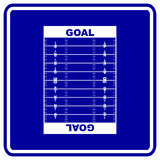 football field vector sign Royalty Free Stock Image