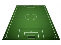 Football field on white background Royalty Free Stock Images