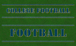 Football Field Words Astroturf Stock Images