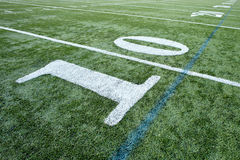 Football Field. Yard Lines close up Royalty Free Stock Photography