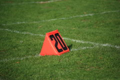 Football Field Yard Marker Royalty Free Stock Images