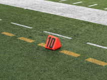 Football Field Yard Marker Royalty Free Stock Image