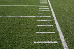 Football field yardlines Royalty Free Stock Image