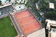 Football fields from cairo tower Stock Image